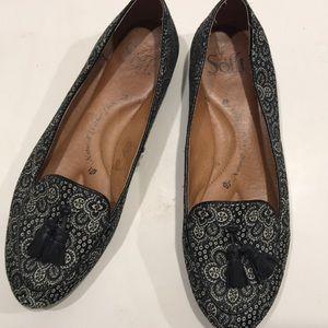 SOFFT textile upper leather lining tassel floral 6